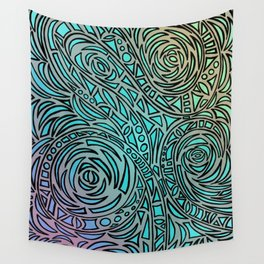 How the river flows - Zentangle Art Wall Tapestry