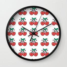 Cherry Pattern Wall Clock