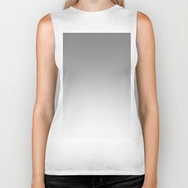 Gray to White Horizontal Linear Gradient Biker Tank