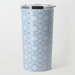 Project 503 | White Lace on Periwinkle Travel Mug