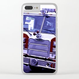 Those Wonderful Fire Trucks Clear iPhone Case