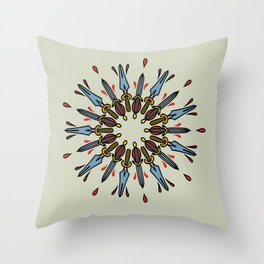 Mandala of daggers Throw Pillow