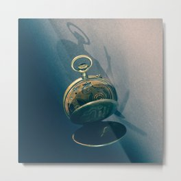 Clock 2 Metal Print