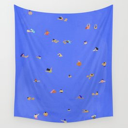 Electric blue Wall Tapestry