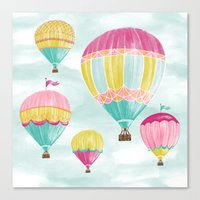 hot air balloons Canvas Prints featuring Hot Air Balloons by Jill Byers