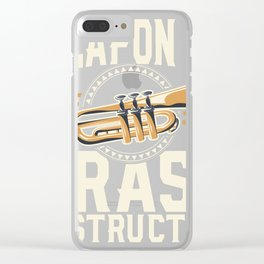 Tube Player Funny Tee | Weapon of Brass Destruction Gift T Clear iPhone Case
