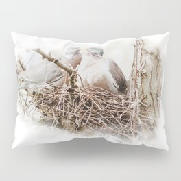 Pigeons cuddling Pillow Sham