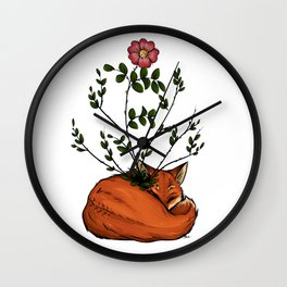 Grow with me - Fox  Wall Clock