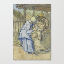 The Sheepshearer (after Millet) Canvas Print
