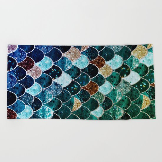 REALLY MERMAID TIFFANY Beach Towel