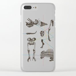Puzzle bones Clear iPhone Case