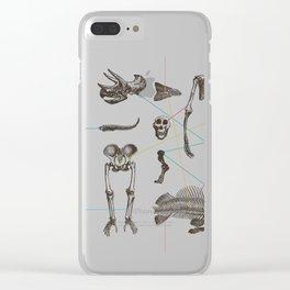Puzzle bones Clear iPhone Case