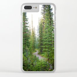The Road Never Travelled Clear iPhone Case