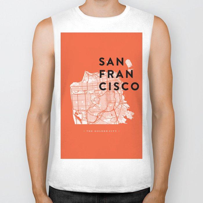 San Francisco Map 04 Biker Tank