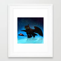toothless Framed Art Prints featuring Toothless by sevillaseas