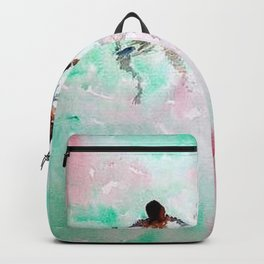 African American Boys, The Summer Swimming Hole portrait paintings Backpack