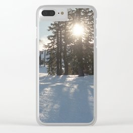 Snowy Landscape Clear iPhone Case