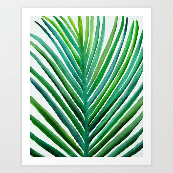 Bold Palm Leaf Watercolor Art Print