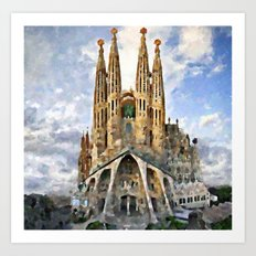 Sagrada Familia temple Art Print