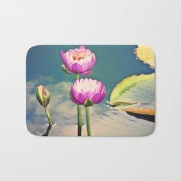 Pink Lotus Flowers (Namaste) Bath Mat