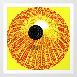 Process of an Eclipse. Art Print