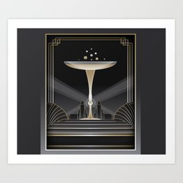 Art deco design VI Art Print