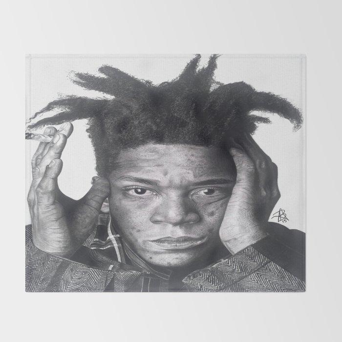 Jean-Michel Basquiat Drawing Throw Blanket