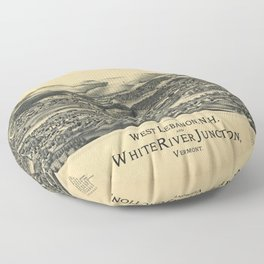 West Lebanon, New Hampshire and White River Junction, Vermont (1889) Floor Pillow