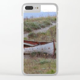 Abandoned Row Boat Clear iPhone Case