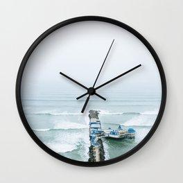 View off the Coast of Miraflores, Lima, Peru Wall Clock