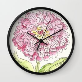 Zinnia Burst Wall Clock