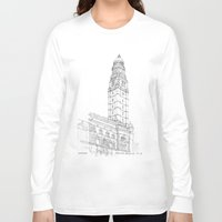 buildings Long Sleeve T-shirts featuring Municipal Buildings by Grambo