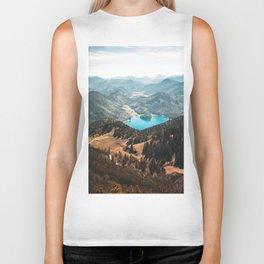 Mountains and lake Biker Tank