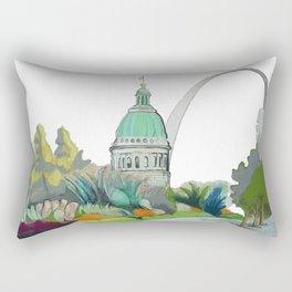 St. Louis cityscape 1 Rectangular Pillow