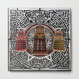 Aztec Dalek Tardis doctor who iPhone 4 4s 5 5c 6, pillow case, mugs and tshirt Metal Print