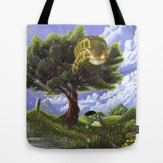 Totoro and Catbus Tote Bag