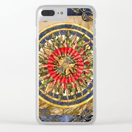 Sea Dragon Compass Rose Clear iPhone Case