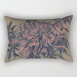Ash-tree, olive, brown & blush Rectangular Pillow
