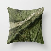 white marble Throw Pillows featuring Marble by Santo Sagese