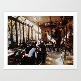 cafe light Art Print