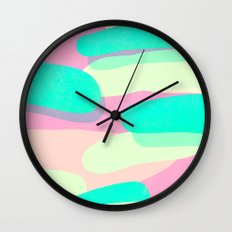 jelly / pink & aquamarine Wall Clock