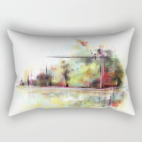 by the river Rectangular Pillow