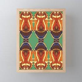 Fiddler Beetle design on Green by Chrissy Wild Framed Mini Art Print