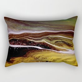Motions 56, acrylic on canvas Rectangular Pillow