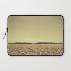 Lonely Field in Brown Laptop Sleeve