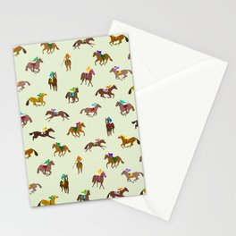 Off to the Horse Races (Mint) Stationery Cards