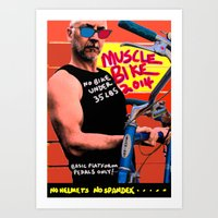 muscle Art Prints featuring muscle bike  by Davey Charles
