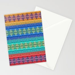 Illuminated Neo Tribal Micro pattern (HDR) Stationery Cards