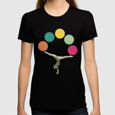 Gymnastics II Womens Fitted Tee SMALL Black