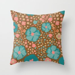 Town Square Floral Throw Pillow